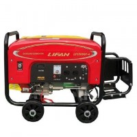 Lifan 6.5 kW Petrol & Gas Generator with Battery & Gas Kit - LF8000GF-4 - Red