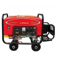 Lifan 7.5 kW Petrol & Gas Generator with Battery & Gas Kit - LF10000GF-4  Red