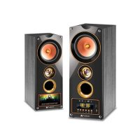Audionic Cooper 5 Wooden Speakers With Bluetooth Led Display