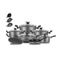 ShopnSave 15 Pcs Non Stick Cookware Set