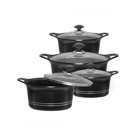 Sonex Set Of 10 - Die-Cast Ceramic Coated Glory King Cookware