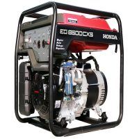 Honda Generator in Black & Red EG 6500 CXS