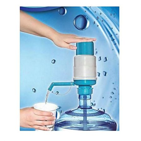 Item4u Manual Water Pump Dispenser For Water Cans White & Blue