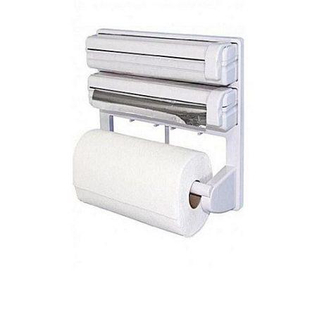 Lamcy Triple Paper Dispenser White
