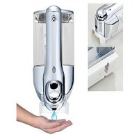My Deals Wall Mount Liquid Soap & Shampoo Dispenser 350 ml Silver