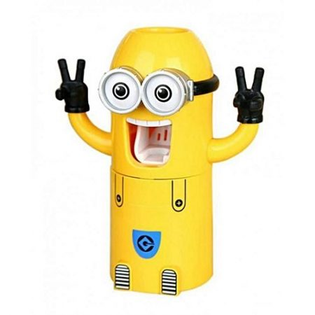 Shop2Home Automatic Minion Toothpaste Dispenser & Holder Yellow