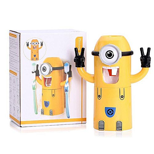 Buy The Market Minion Tooth Paste Dispenser Amp Brush Holder