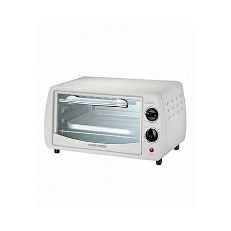 Black + Decker TRO1000 Oven Toaster 9 Liter With Aluminium Food Tray White