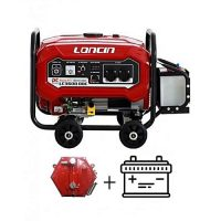 Loncin LC3600DDC Generator 2.5 KW with Big Battery & Gas Kit