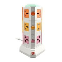 Online Shopping Vertical Secure Power Sockets with USB Port Multicolor