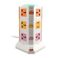 SF Home Decore Vertical Power Sockets Multicolor