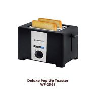 Westpoint Official WF2561 2 Slice PopUp Toaster Black
