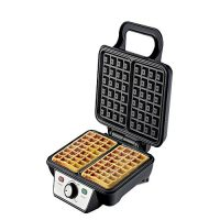 Westpoint Official WF8102 Deluxe Waffle Maker 1000 Watts Black & Silver