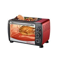 Westpoint WF2400RD 24 LTR Toaster Oven with Hot Plate Red & Black