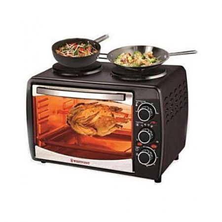 Westpoint WF3000RKH Grilling Oven Toaster & Double Top Hot Plates Black