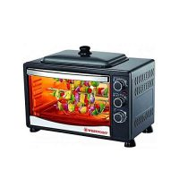 Westpoint WF3800RKD 42 LTR Toaster Oven with Hot Plate Black (Brand Warranty)