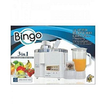 Bingo JBG-800 3 in 1 Juicer, Blender & Grinder White