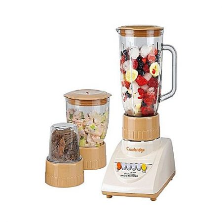 Cambridge Appliance BL 211 Deluxe Blender with Grinder and Chopper Beige