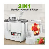 New National Shop Multifunction Juicer, Blender & Grinder 3 In 1 White