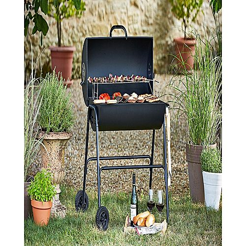 buy argos oil drum bbq with lid online in pakistan. Black Bedroom Furniture Sets. Home Design Ideas