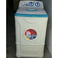 ASIA Semi Automatic Washing Machine, 99.99%Copper Motor, Plastic Body, Large Tub Size.