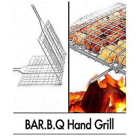 Better Deals Bbq Stainless Steel Hand Grill Large