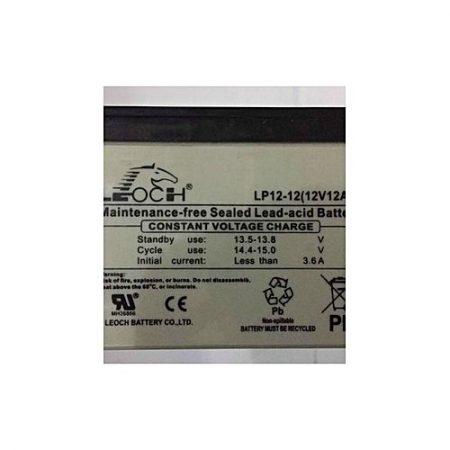 J'S Leoch12V 12Amp Maintenance Free Sealed Lead-Acid Battery Grey