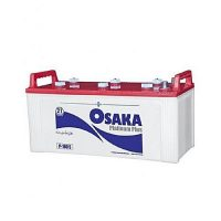 Osaka Batteries Platinum P-180 S 21 Plates Acid Battery White
