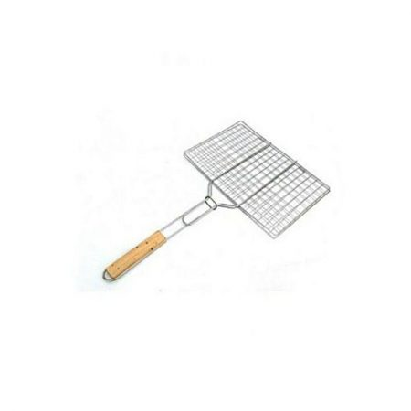 shah g crockery Chrome Plated Bbq Grill Wire Mesh Silver