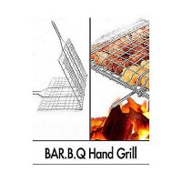 Top Shops Bbq Stainless Steel Hand Grill Large
