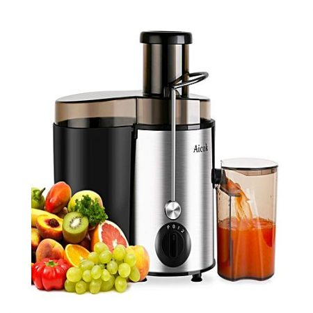 Aicok Stainless Steel Dual Speed Setting Juicer Machine 400W