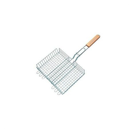 Hot deals Double Grid Basket - Silver ha260