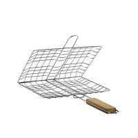 ShopnSave BBQ Grill Basket - Silver ha188
