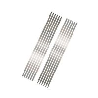 ShopnSave BBQ Skewers - Pack Of 12 - Silver ha256