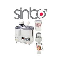 Sinbo SJ8176 - 4in1 Juicer Blender Grinder and Drymill White (Brand warranty)