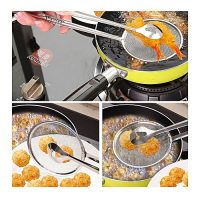 Smart Collections Bbq , Buffet, Chicken Fried Frying Mesh Colander Filter Oil Drainer Tong ha87