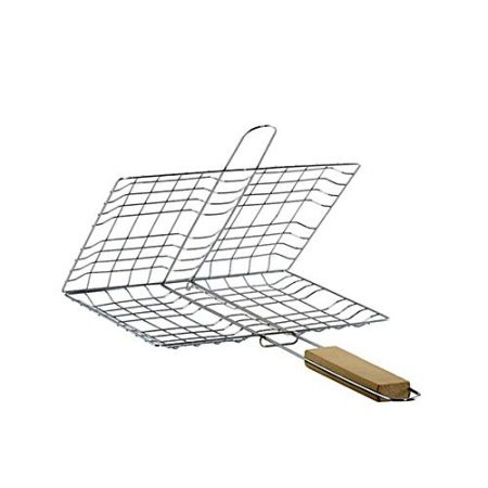 Techmanistan Fish & Chicken BBQ Grill Basket - Silver ha271