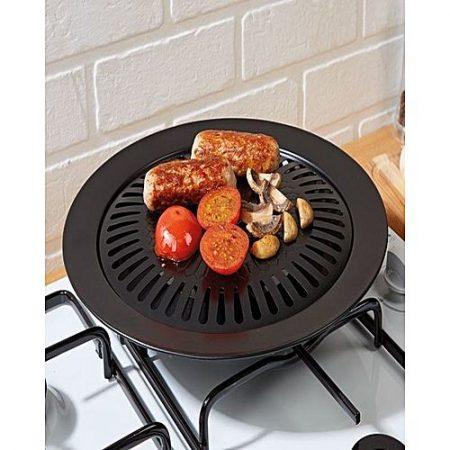 XUNOM Non Stick Smokeless BBQ Stove Top Grill - Black ha226