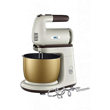 Anex Deluxe Hand Mixer with Bowl 5 Speed hand mixer - AG-818 - Beige & White - 200 Watts ha137