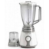 BLACK&DECKER Blender with Chopper & Grinder - White & Grey ha383