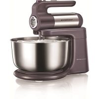 Westpoint Official WF-9504 - Deluxe Hand Mixer With Stand Bowl - Silver - 300 Watts ha178
