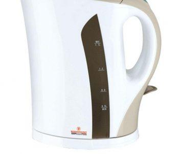 Electric Kettle WF-3118 - 1.7 LTR - White & Brown ha360