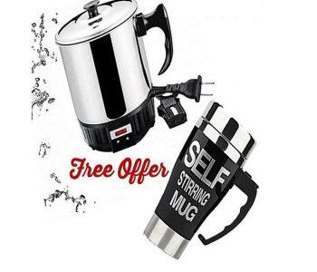 Electric Kettle With Coffee Mug ha221