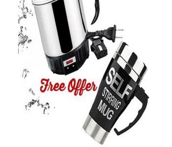 Electric Kettle With Coffee Mug ha337