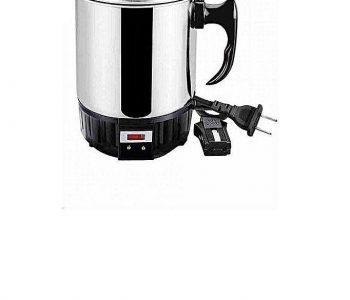 Electric Mug Kettle - Black & Silver ha28
