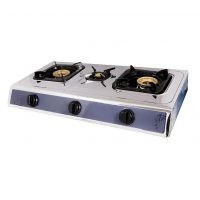 SR-GS-148 auto Ignited Tripple 3 (Three) Gas Stove Burner - Silver ha120