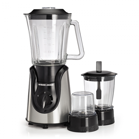 Black & Decker BX 600G 3 in 1 Blender with Grinder & Mixer With Official Warranty