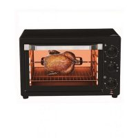 E-Lite ETO-221R Toaster Oven 22-LTR Black With One Year Warranty