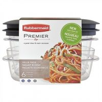 Rubbermaid Rm-1951297 6 Piece Value Pack Premier Grey