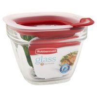 Rubbermaid Rm-2856002 1.5 Cup 354ml Square Glass Food Storage Container